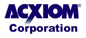 Acxiom Corp. project