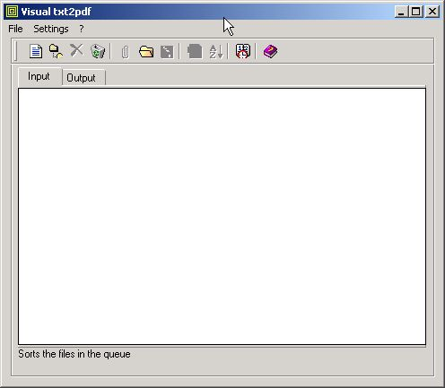 Screenshot for txt2pdf 11.0